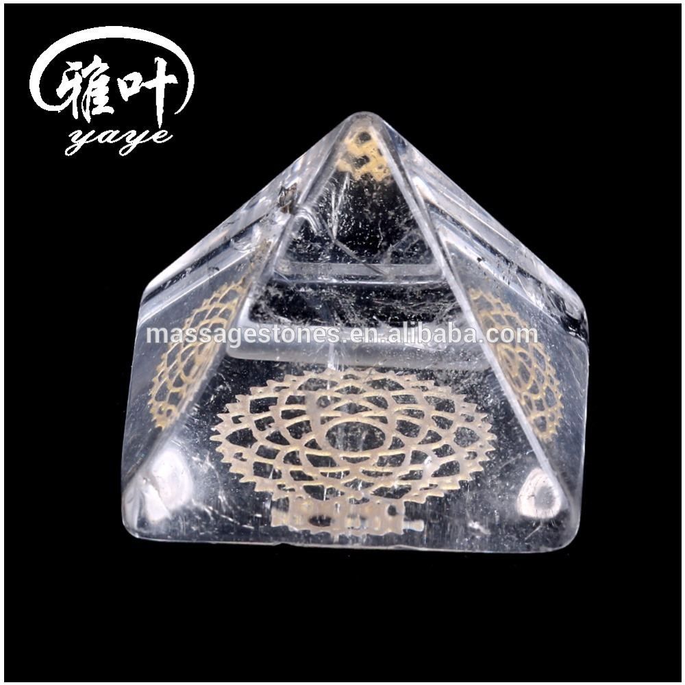 7 Chakra Gemstone Crystal Orgone Pyramid/Wholesale Spiritual Orgone Products