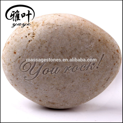 Natural Engraved Words Stone Garden River Stone for Sale