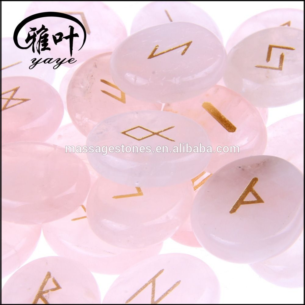 Natural Crystal Engraved Reiki Healing Symbol Rune Set