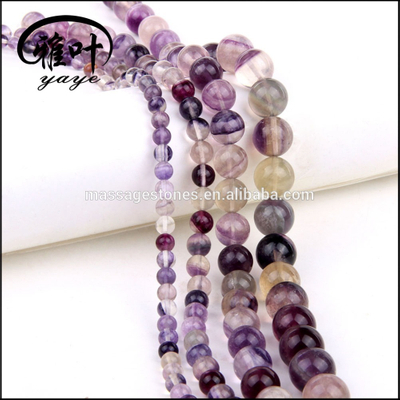 Wholesale 2/4/6/8/10/12mm Natural Fluorite Gemstones Semi-precious Stone Beads