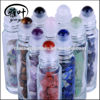 5ML 10ML Wholesale Gemstone Roller Ball Glass Bottle Essential Oil Roller ball